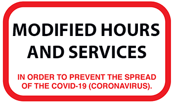 COVID-19 related modified service and hours
