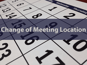 Meeting Location Change