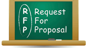 RFP on chalkboard