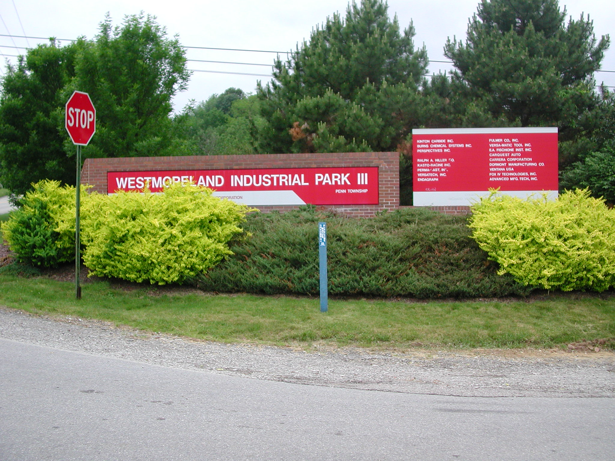Entrance Sign Industrial Park III