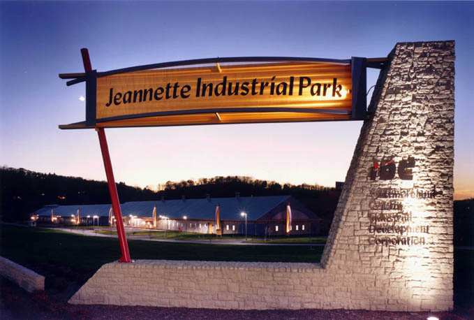 Entrance Sign Jeannette Industrial Park