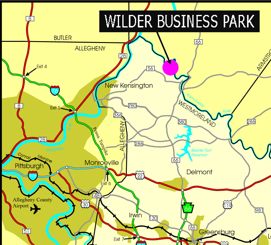 Location Map of Wilder Business Park