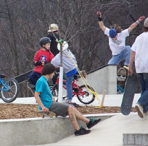 Skaters and Bikers