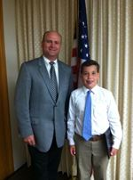 Commissioner Courtney and Dominic DeRiso
