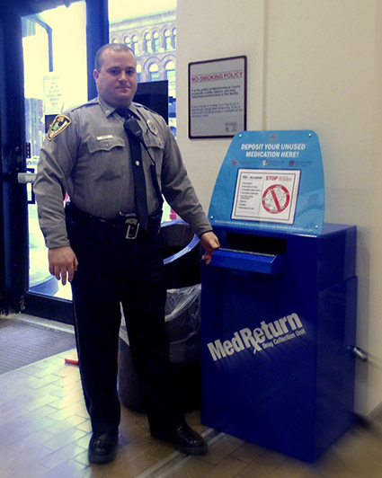 Officer Grace with MedReturn Box
