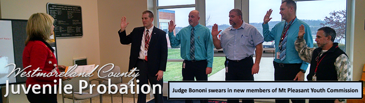 Judge Bononi swears in new members of Mt Pleasant Youth Commission