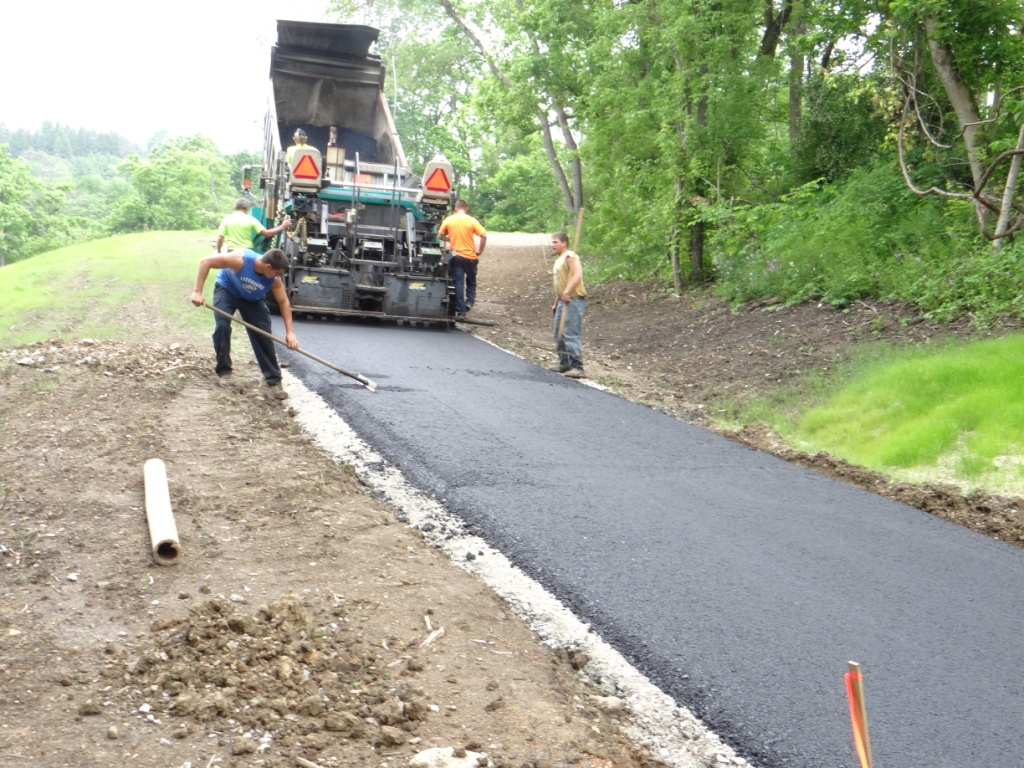 Little Crabtree Creek Trail construction