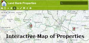 Land Bank Properties Interactive Map