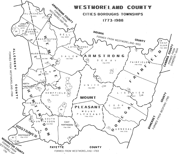Historic Maps & Resources | Westmoreland County, PA   Official Website