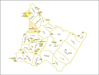 Westmoreland County Municipality Map