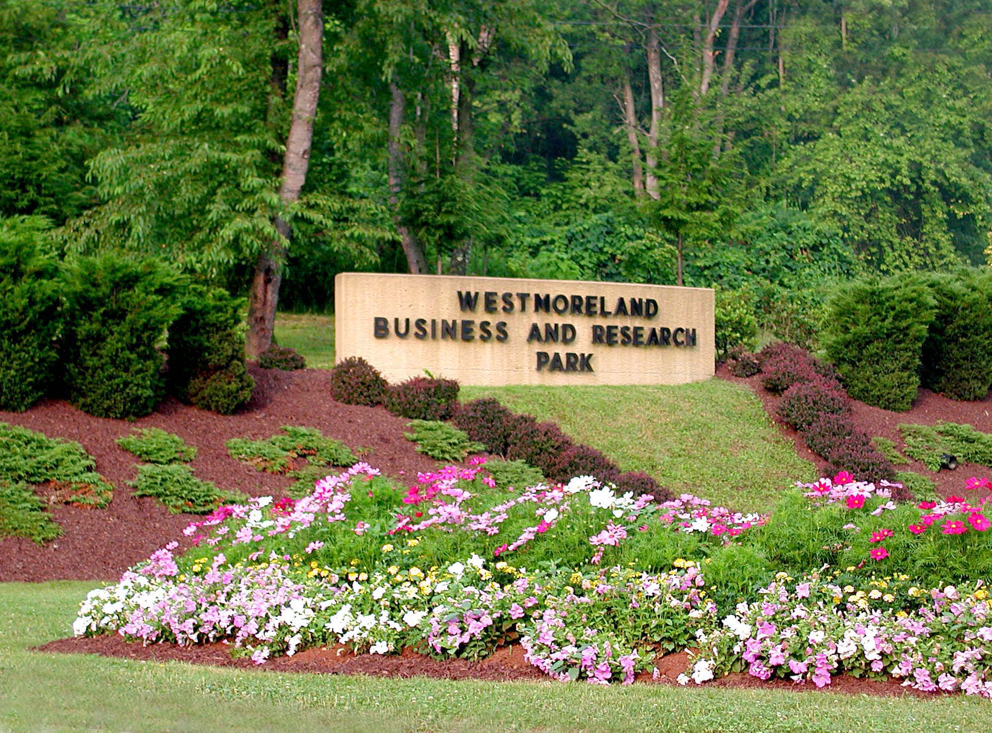 Business and Research Park Entrance Sign