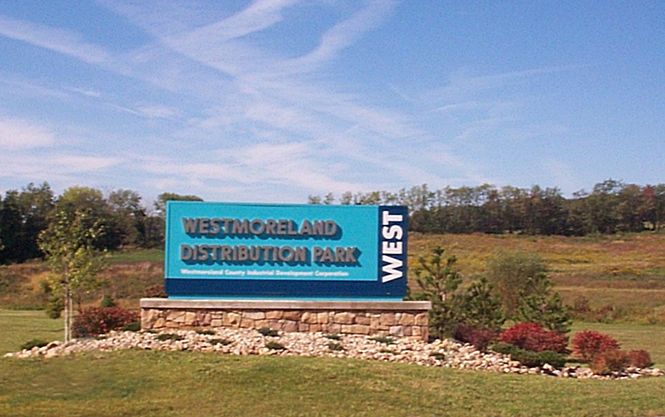 Entrance Sign Distribution Park East West
