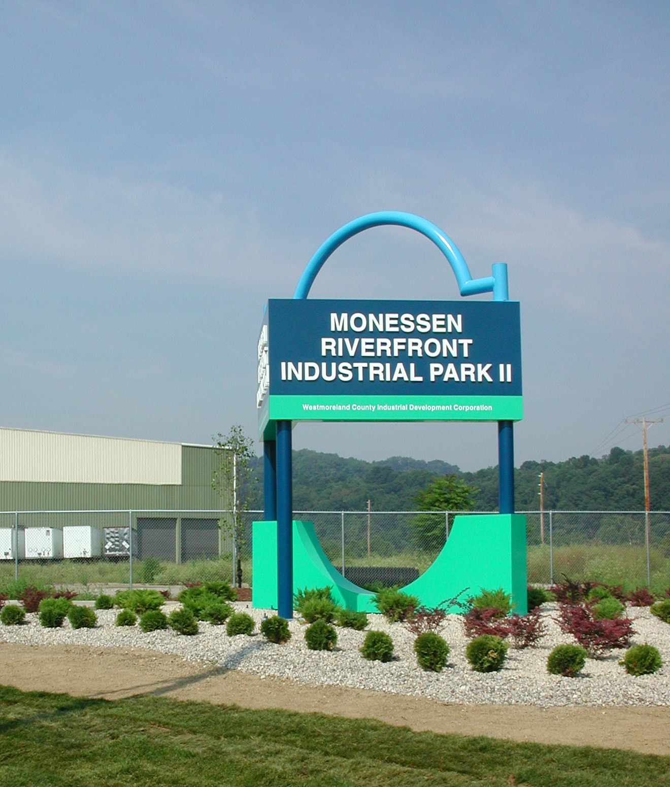 Entrance Sign Monessen Riverfront Industrial Park