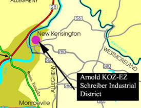 Location Map of Arnold KOEZ