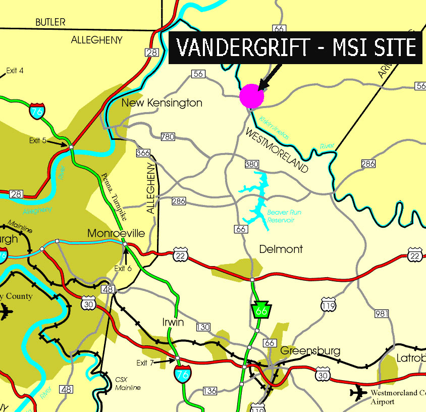 Location Map of Vandergrift MSI Site