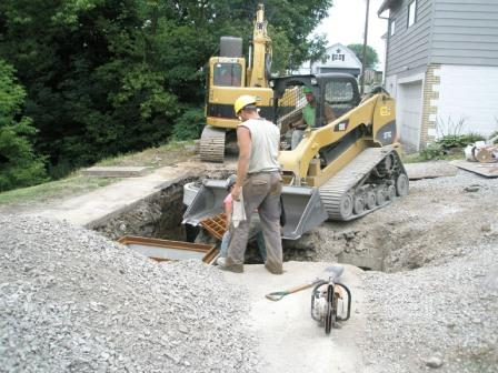 Vandergrift Sanitary Sewer Line Installation, before