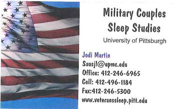 Military Couples Sleep Study