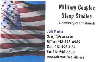 Military Couples Sleep Study