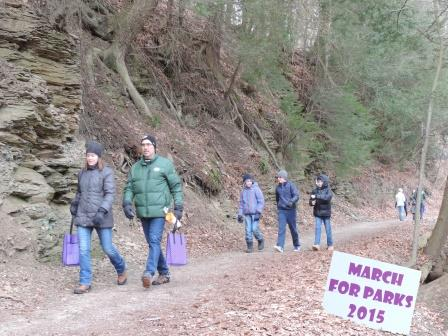 March for Parks trail