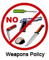 Image of prohibited weapons